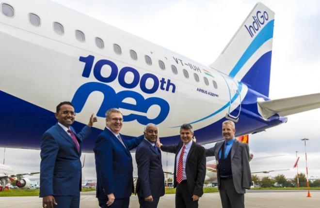 1000-й поставленный самолет семейства A320neo