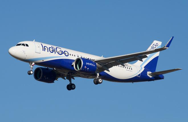 Самолет A320neo авиакомпании IndiGo