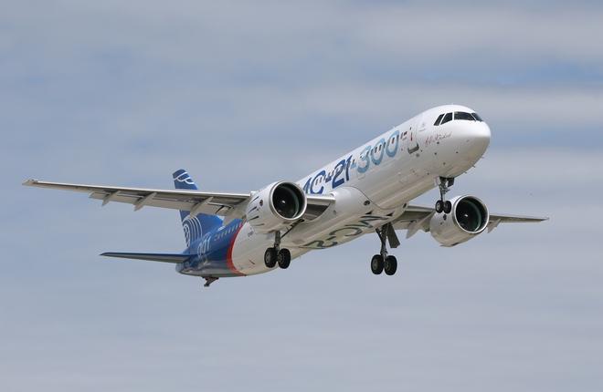 Самолет МС-21-300 во второй раз поднялся в воздух