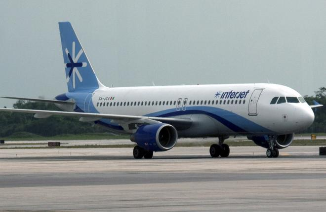 Самолет Airbus A320 авиакомпании Interjet