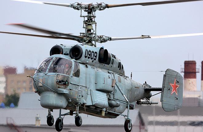 Прототип вертолета Ка-27М на летно-испытательной станции МВЗ им. М. Л. Миля