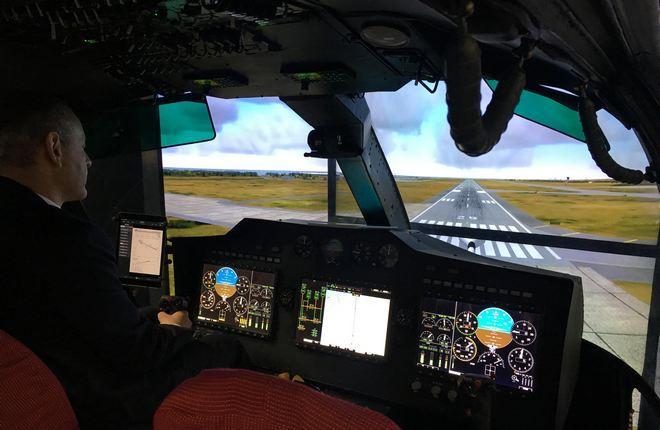 Макет кабины вертолета Ка-32А11М