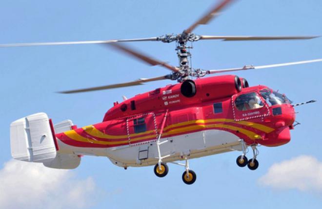 В Китай поставлен противопожарный вертолет Ка-32А11ВС