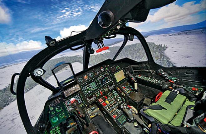 """Комплексный тренажер вертолета Ка-52 """"Аллигатор"""" производства ЦНТУ """"Динамика"""""""