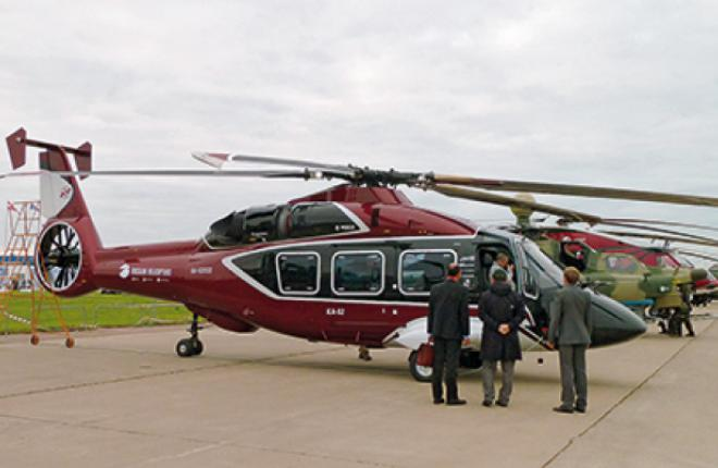 The first Ka-62 prototype was presented at MAKS 2013 airshow