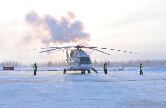 Вертолет Ми-38 в Якутии