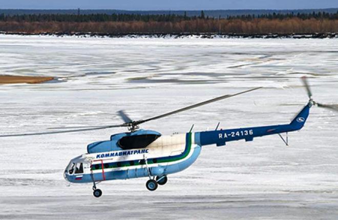 В прошлом году вертолеты Ми-8 «Комиавиатранса» налетали 14,2 тыс. ч
