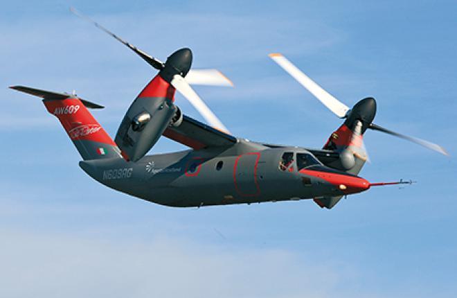 AgustaWestland планирует сертифицировать первый коммерческий конвертоплан AW609
