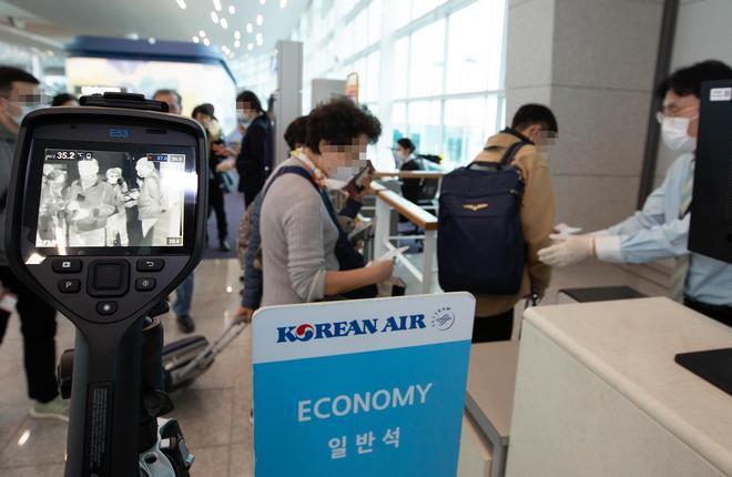 На стойке регистрации Korean Air