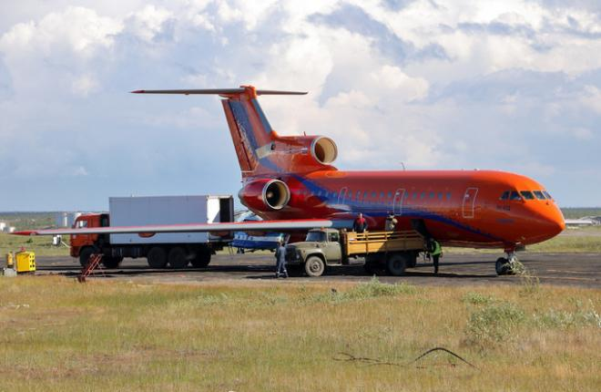 "Самолет Як-42 авиакомпании ""КрасАвиа"""