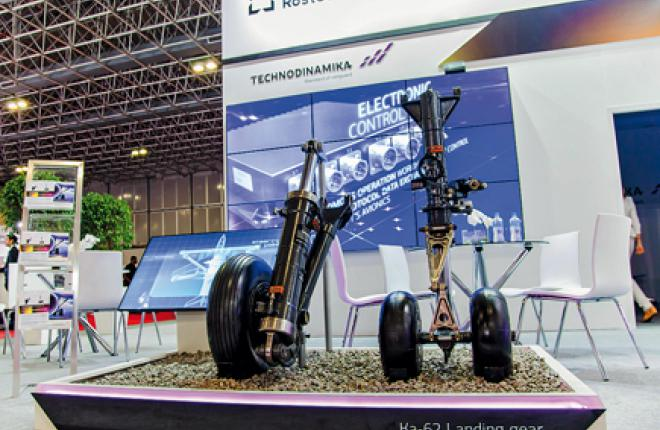 One of Technodinamica's most promising developments is the landing gear for the new Ka-62 helicopter