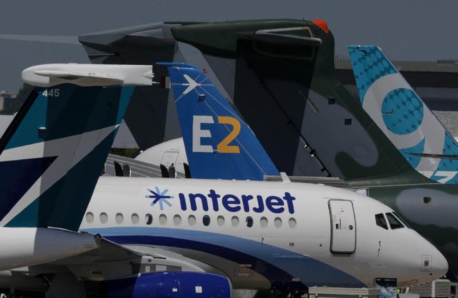 Самолеты на статике Парижского авиасалона