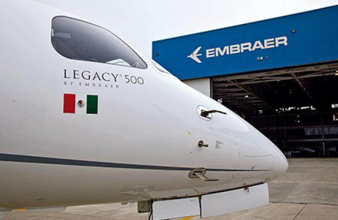 В России впервые представили бизнес-джет Embraer Legacy 500