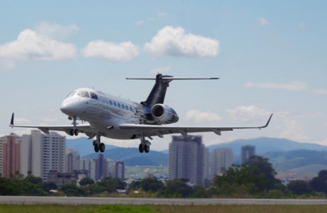 Новый бизнес-джет Embraer Legacy 500 совершил первый тестовый полет
