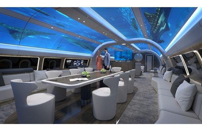 Дизайн салона Airbus Corporate Jet ACJ330 от немецкой Lufthansa Technik