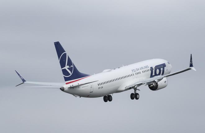 Boeing 737MAX польской авиакомпании LOT