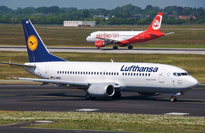 Самолеты Lufthansa и Air Berlin