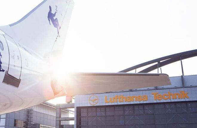 Один из ангаров Lufthansa Technik