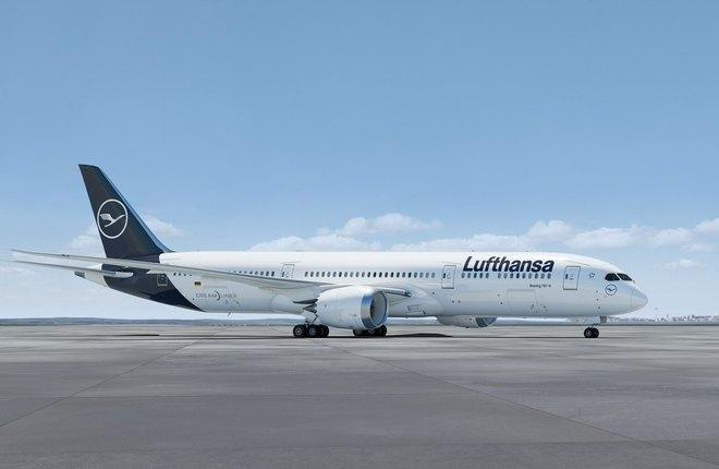самолет Boeing 787 авиакомпании Lufthansa