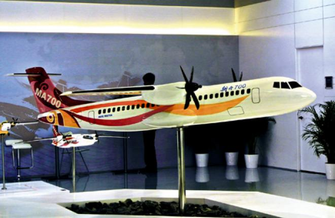 Китайцы решили сделать турбовинтовой самолет большой вместимости
