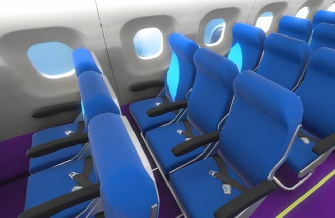 Трехмерная модель авиационного интерьера