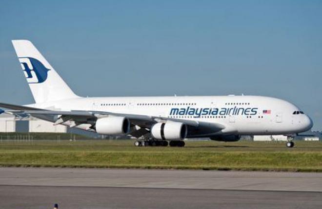 Авиакомпания Malaysia Airlines получила свой первый самолет Airbus A380