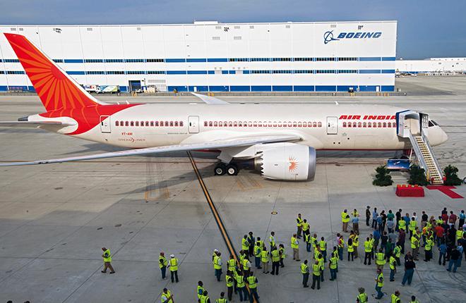 В прошлом году Boeing поставил в Индию всего три самолета по сравнению с 36 бортами в пиковом 2007-м