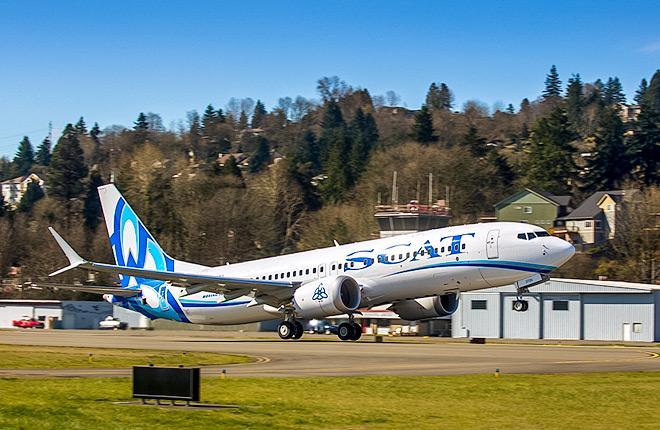 Самолет Boeing 737MAX-8 авиакомпании SCAT