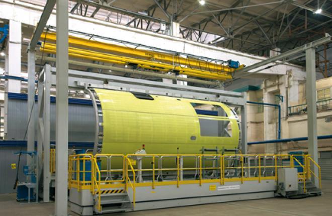 Assembly of an MC-21 fuselage section in Irkutsk