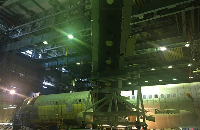 Второй прототип самолета МС-21 на испытаниях в ЦАГИ