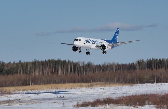 самолет МС-21-300 завершил программу сертификационных испытаний в условиях естественного обледенения