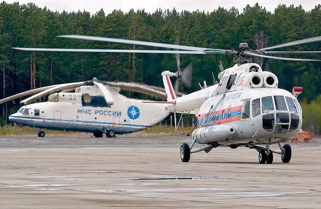 Сегодня МЧС эксплуатирует 51 вертолет