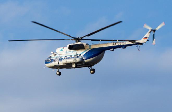 В парке авиакомпании «Ангары» есть 13 вертолетов Ми-8Т :: Анастасия Юшкевич