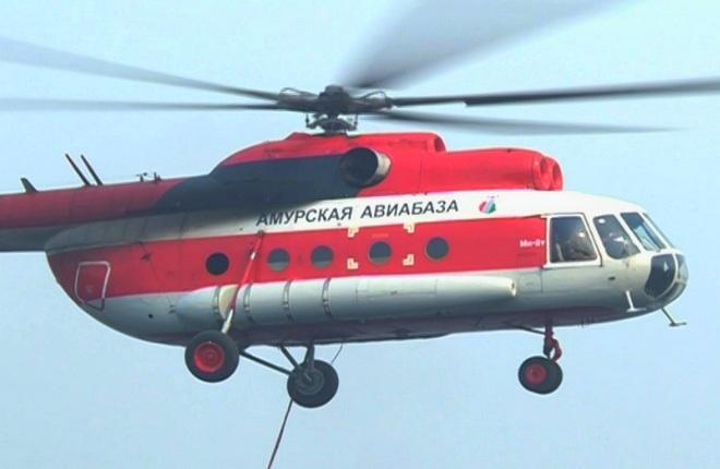 Вертолет Ми-8Т Амурской авиабазы