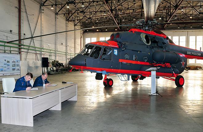 Mi-8AMTSh-VA at the Defense Ministry's commissioning ceremony in Ulan-Ude, November, 2015