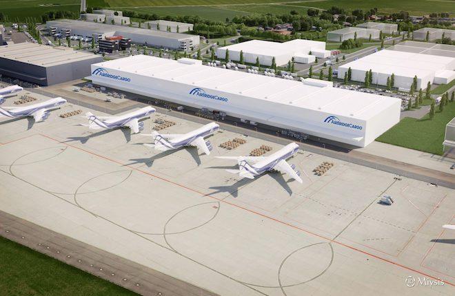 Макет складских помещений AirBridgeCargo в аэропорту Льеж