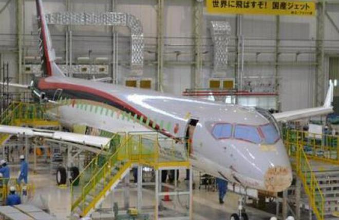 Состыкован первый летный прототип самолета MRJ