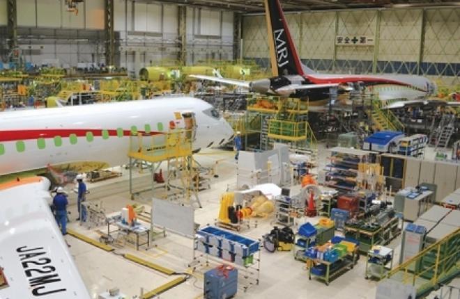 На японском региональном самолете MRJ впервые запустили двигатель