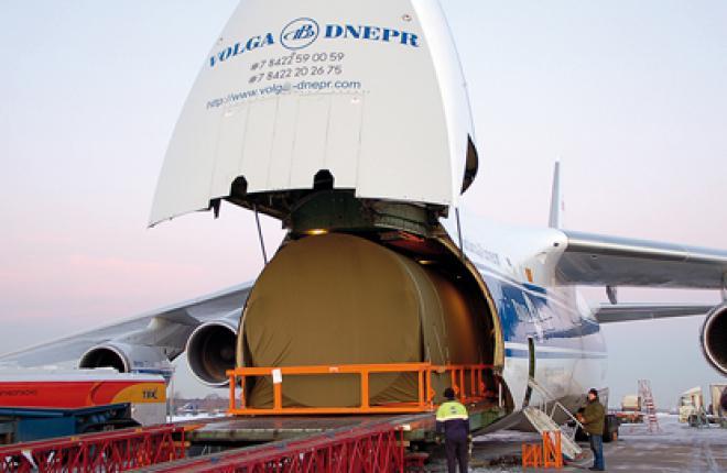 Отсек фюзеляжа самолета МС-21 из Иркутска в Жуковский доставил самолет Ан-124-10