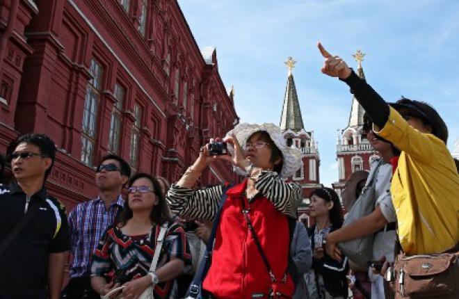 В 2013 году количество иностранных туристов, посетивших Москву, возросло на 10%