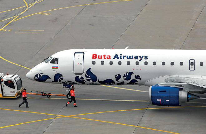 Самолет азербайджанского лоукостера Buta Airways