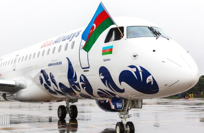 Восьмой самолет Embraer E190 азербайджанской авиакомпании Buta Airways