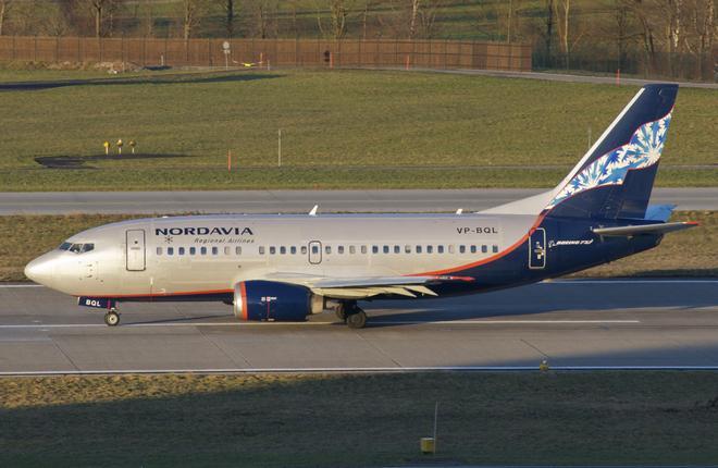 "Самолет Boeing 737 авиакомпании ""Нордавиа"""