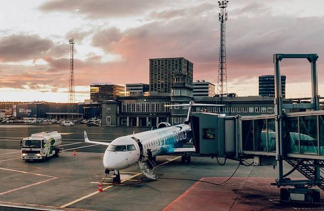 Самолет CRJ эстонской авиакомпании Nordica