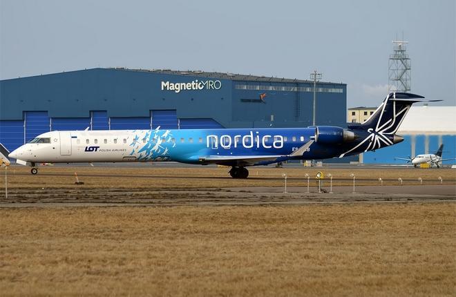 CRJ900 авиакомпании Nordica