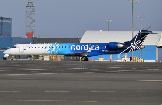 Самолет Bombardier CRJ900 авиакомпании Nordica
