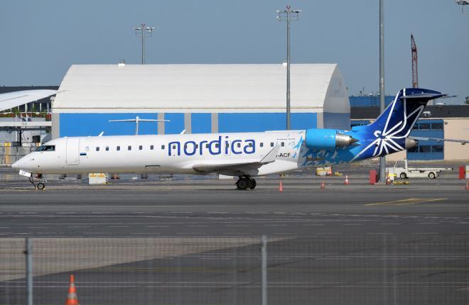 Самолет Bombardier CRJ700 авиакомпании Nordica