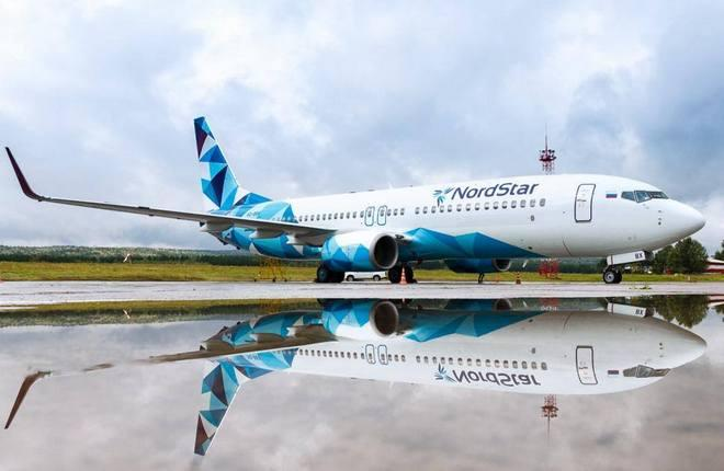 самолет Boeing 737-800 авиакомпании NordStar в новой ливрее