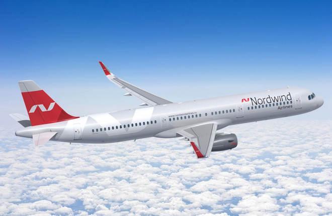 Самолет A321 авиакомпании NordWind