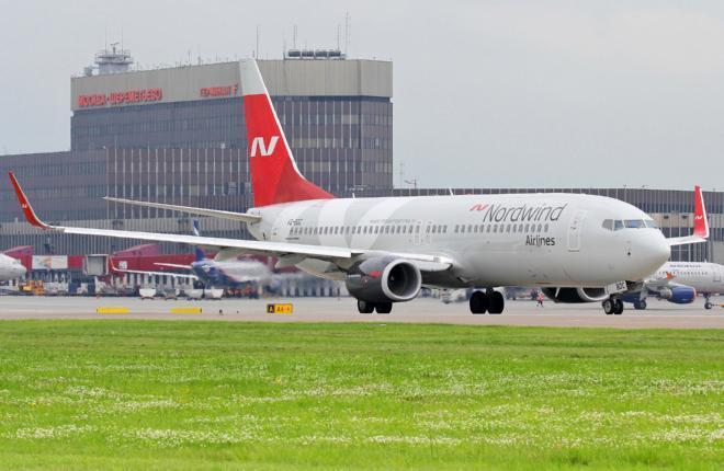 Самолет Boeing 737 авиакомпании Nordwind